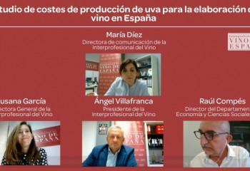 """La Interprofesional del Vino presenta su """"Estudio de costes de producción de uva para la elaboración de vino en España"""""""