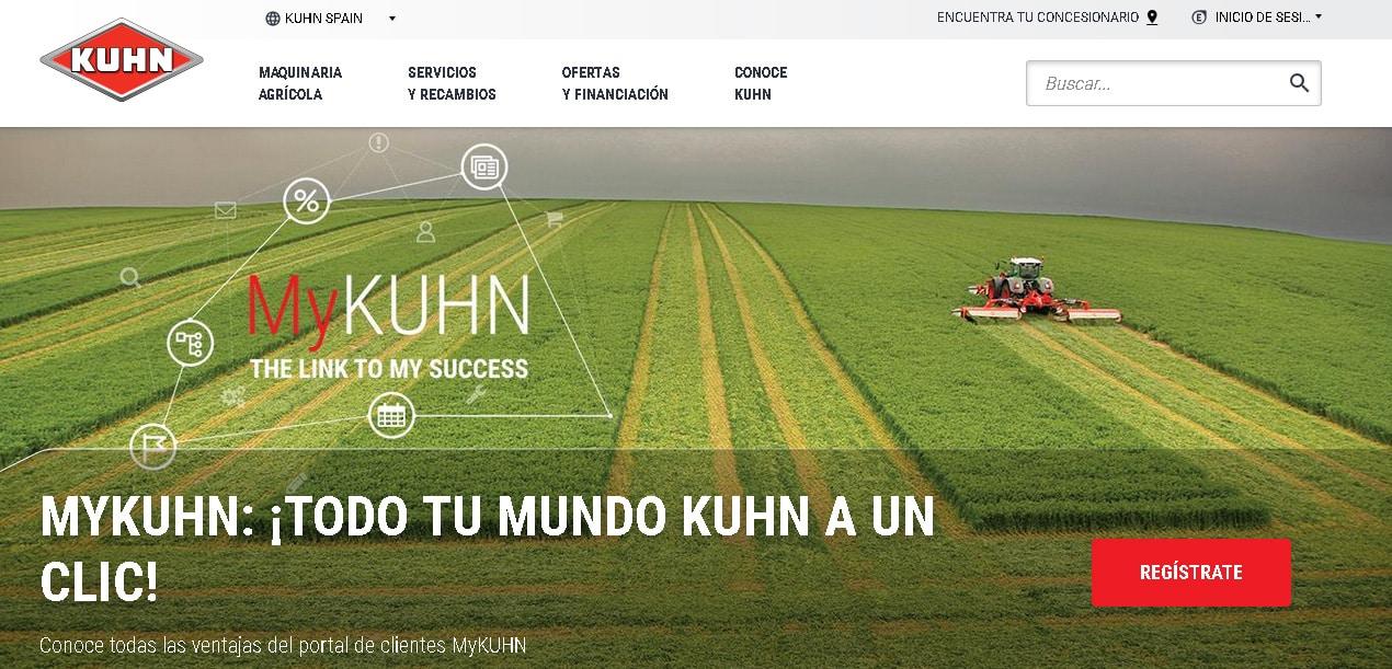 Kuhn renueva su página web