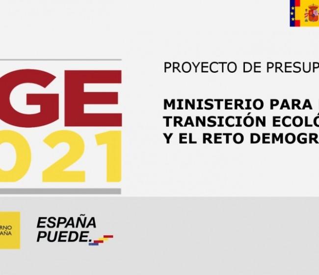 Un 55,3% de los 12.307 M€ de presupuesto 2021 del Miterd saldrá del Fondo Europeo de Recuperación
