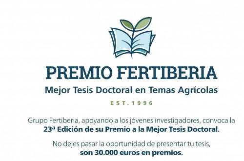 Convocada la XXIII edición del Premio Fertiberia a la Mejor Tesis Doctoral en Temas Agrícolas