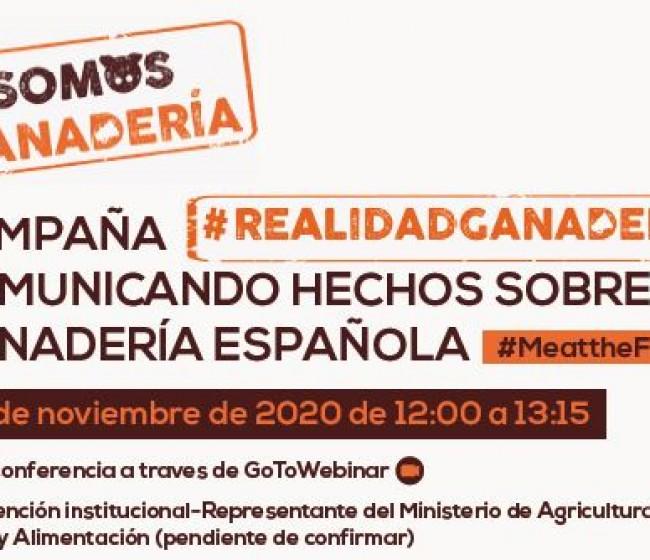 #RealidadGanadera, la nueva campaña para comunicar hechos de la ganadería española