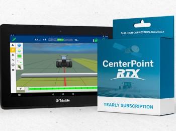 Pantalla GFX-750 y CenterPoint RTX de Trimble, posicionamiento perfecto