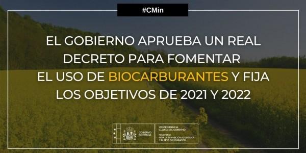 El Miterd limita el uso de tierras con cultivos alimentarios o forrajeros para fabricar biocarburantes