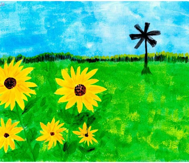 Victoria Ruiz Collera, ganadora del 24º Certamen de Pintura Rural Infantil del Grupo Fertiberia