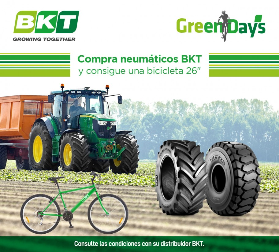 Consigue una bicicleta con la compra de tus neumáticos BKT