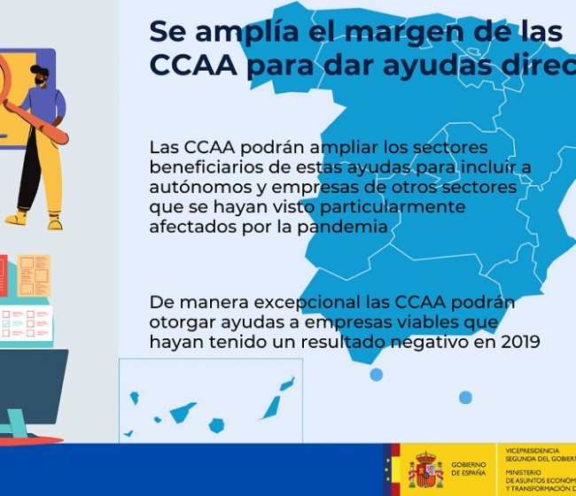 Las CC.AA. podrán ampliar sectores y empresas en las ayudas directas Covid-19