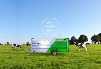 Joskin lanza su configurador online para remolque de ganado y aireadores de pradera