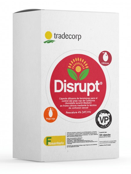 Disrupt, el nuevo difusor de feromonas de Tradecorp para el control del piojo rojo en cítricos