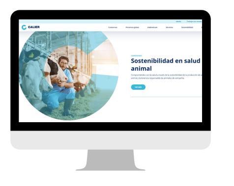 Calier lanza su nueva web centrada en asegurar la sostenibilidad animal