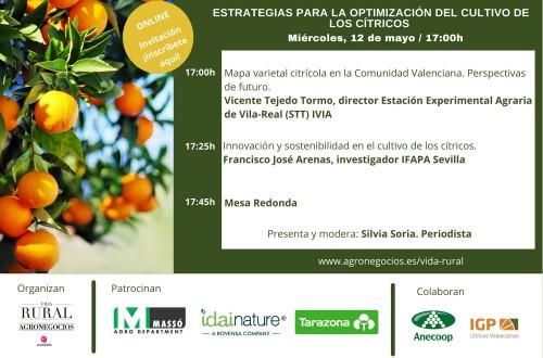Vida Rural celebra el 12 de mayo un webinar sobre estrategias para la optimización del cultivo de los cítricos