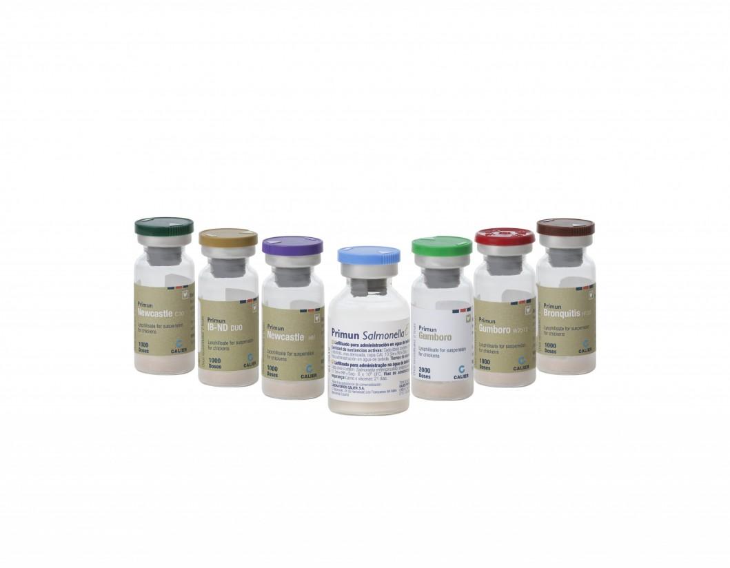 Línea vacunas avicultura Calier
