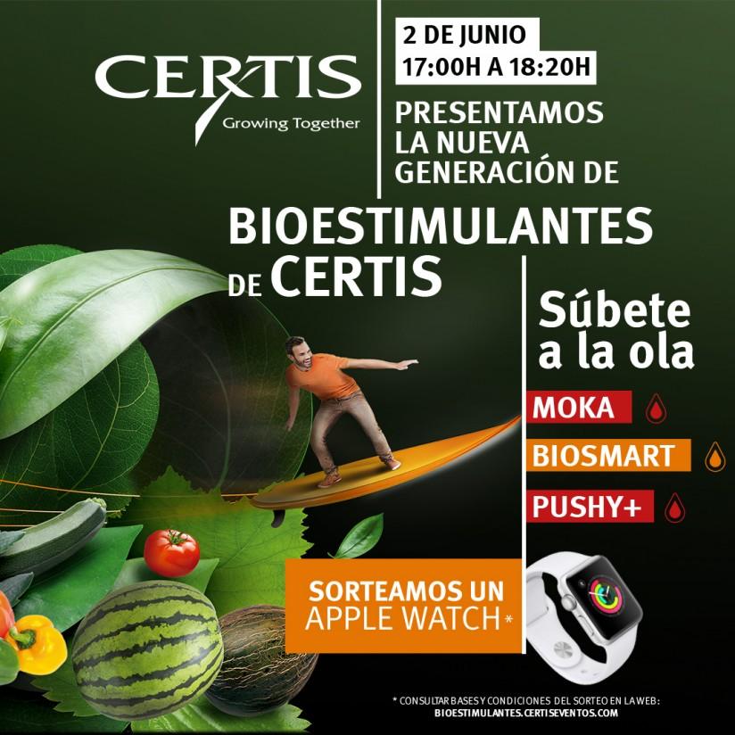 Certis celebra un webinar para presentar su gama de bioestimulantes el próximo 2 de junio
