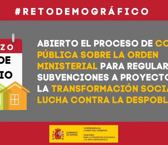 El Miterd prepara ayudas a proyectos innovadores de transformación territorial y lucha contra la despoblación