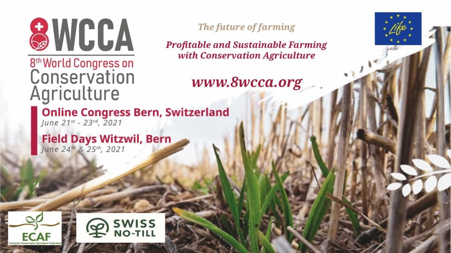 Suiza acoge el 8º Congreso Mundial de Agricultura de Conservación del 21 al 25 de junio