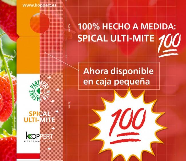 Koppert ofrece un nuevo formato de Spical Ulti-Mite para productores con menos superficie de cultivo