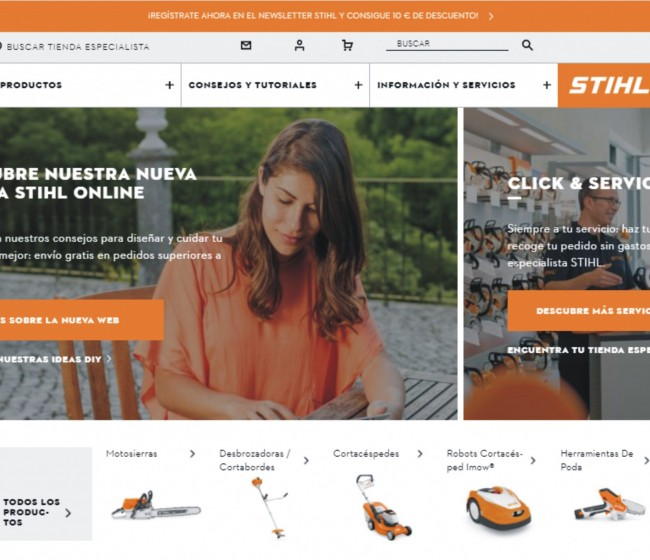Stihl estrena tienda online en España
