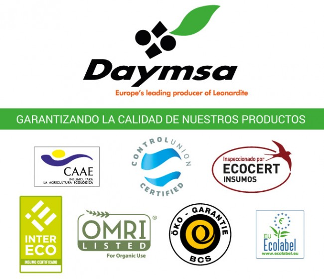 La mitad del catálogo de soluciones de Daymsa está certificado para agricultura ecológica