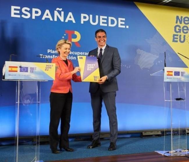 NextGenerationEU: España recibe los primeros 9.000 millones de euros del plan de recuperación