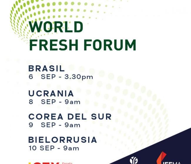 World Fresh Forum: oportunidades del mercado hortofrutícola en Brasil, Ucrania, Corea del Sur y Bielorrusia