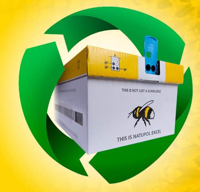 Las colmenas Natupol de Koppert ahora incluyen un 85% de materiales reciclados y renovables