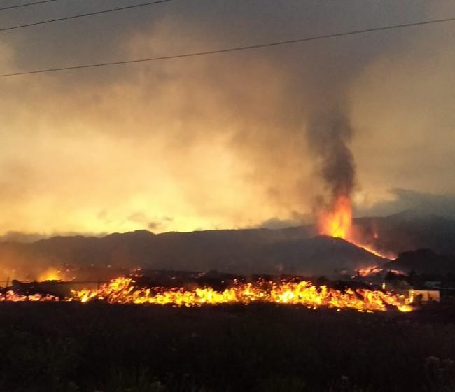 Entre 300 y 400 explotaciones agrarias afectadas ya por la erupción volcánica en La Palma