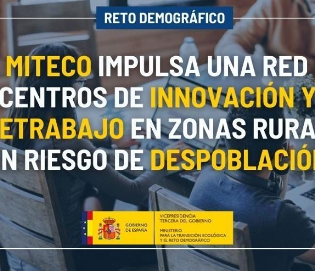 El MITECO despliega una red de centros de negocio y teletrabajo en la España vaciada