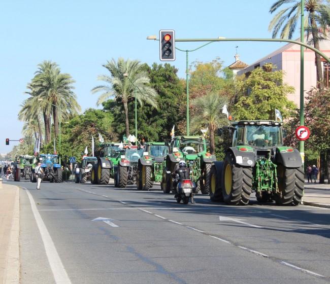 El agro andaluz vuelve a protestar y a pedir a Planas cambios en el Plan Estratégico de la PAC